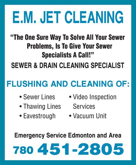 Ads E M Jet Cleaning - Cleaning Eavestrough Only