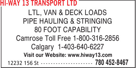 Ads Hi-Way 13 Transport Ltd