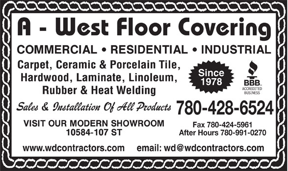 Ads A-West Floor Coverings