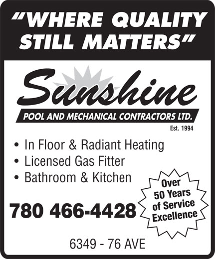 Ads Sunshine Pool &amp; Mechanical Ltd