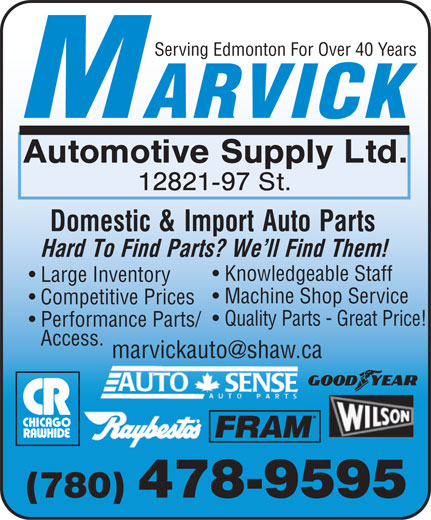 Ads Marvick Automotive Supply