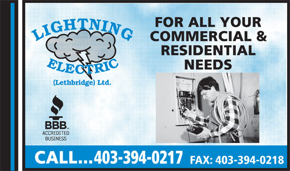 Ads Lightning Electric (Lethbridge) Ltd