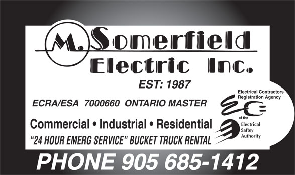 Ads M Somerfield Electric Inc