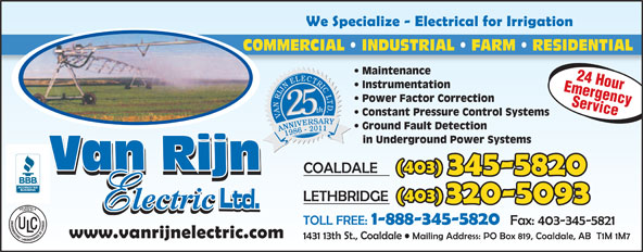 Ads Van Rijn Electric Ltd