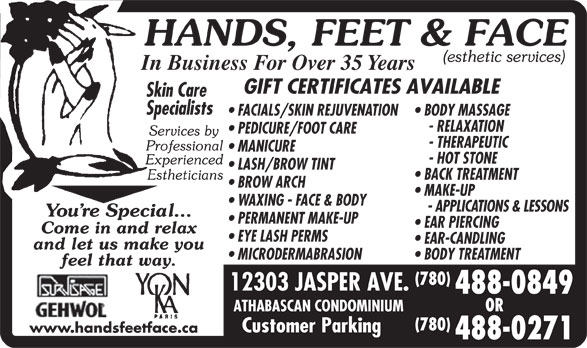 Ads Hands Feet & Face Inc