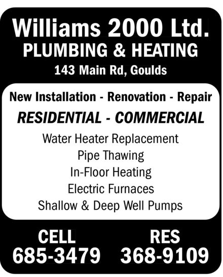Ads Williams 2000 Ltd Plumbing & Heating