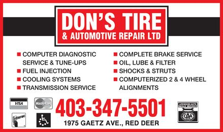 Ads Don's Tire & Automotive Repair Ltd