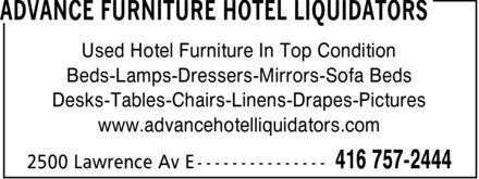 Ads AHL Advance Hotel Liquidators