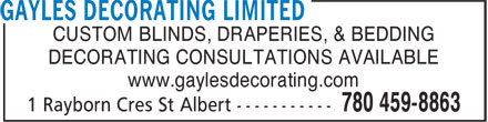 Ads Gayles Decorating Limited