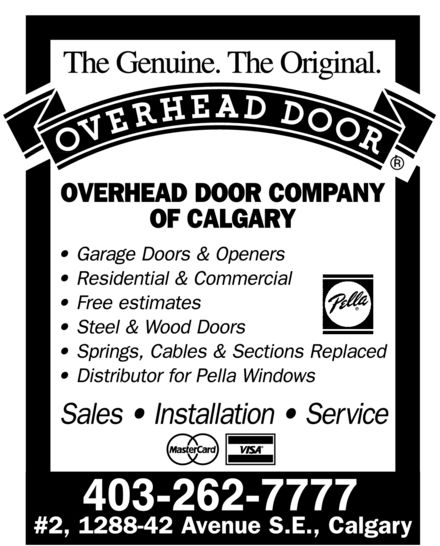 Ads Overhead Door Company Of Calgary
