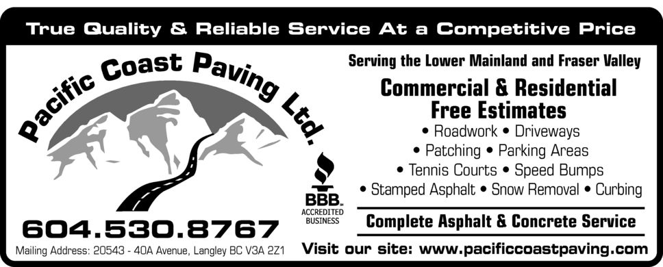 Ads Pacific Coast Paving