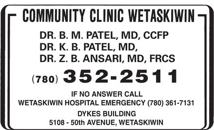 Ads Community Clinic Wetaskiwin