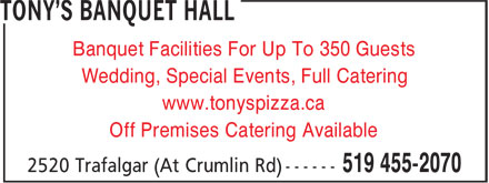 Ads Tony's Banquet Hall