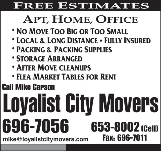 Ads Loyalist City Movers