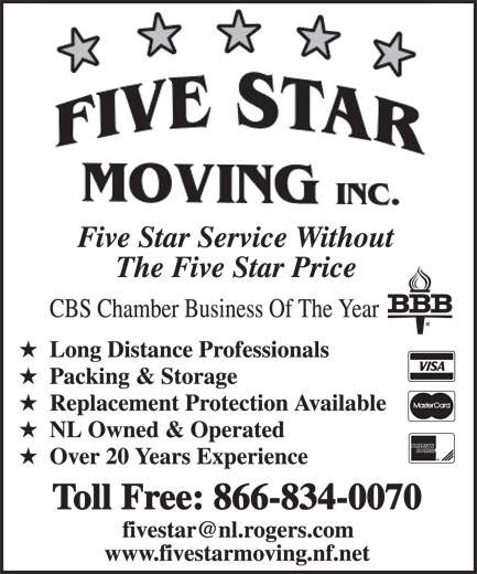 Ads Five Star Moving Inc