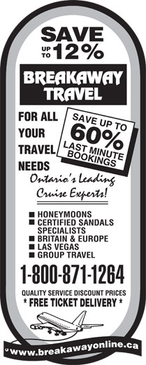Ads Breakaway Travel Inc