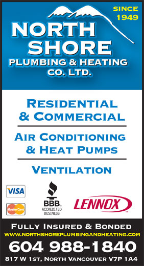 Ads North Shore Plumbing & Heating Co Ltd