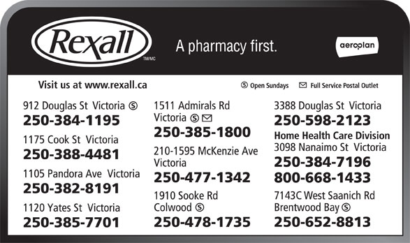 Ads Rexall Drug Store