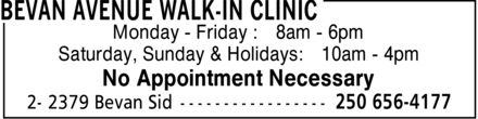 Ads Bevan Avenue Walk-In Clinic