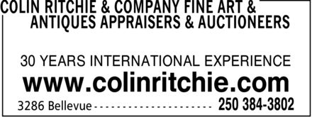 Ads Colin Ritchie & Company Fine Art & Antiques Appraisers & Auctioneers