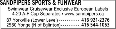 Ads Sandpipers Sports &amp; Funwear
