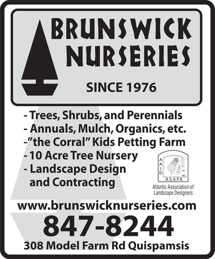 Ads Brunswick Nurseries