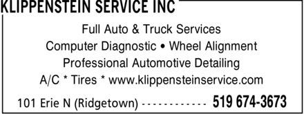 Ads Klippenstein Service Inc