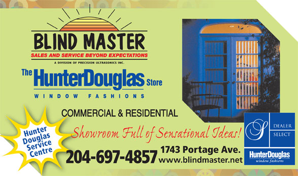 Blind Master Winnipeg Mb 1743 Portage Ave Canpages