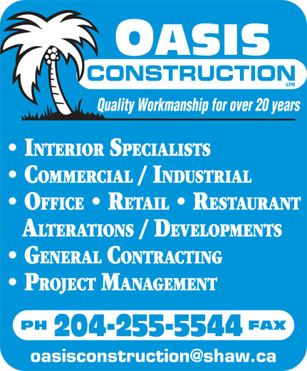 Ads Oasis Construction Ltd