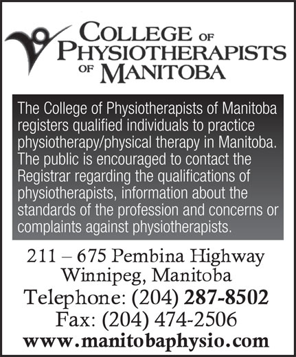 Ads College Of Physiotherapists Of Manitoba