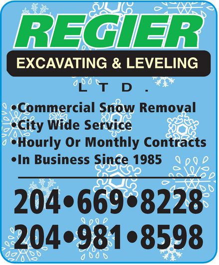 Ads Regier Excavating & Leveling Ltd