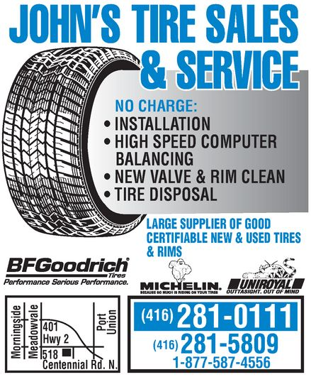 Ads John's Tire Sales & Service