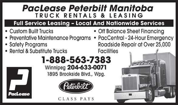 Ads Peterbilt Manitoba Ltd