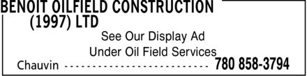 Ads Benoit Oilfield Construction (1997) Ltd