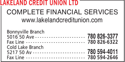 Ads Lakeland Credit Union Ltd