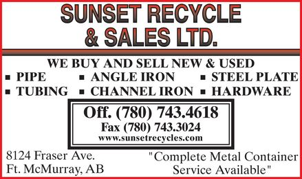 Ads Sunset Recycling & Sales Ltd