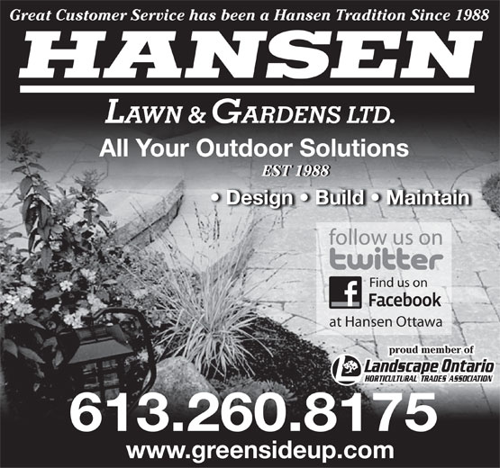 Ads Hansen Lawn &amp; Gardens Ltd