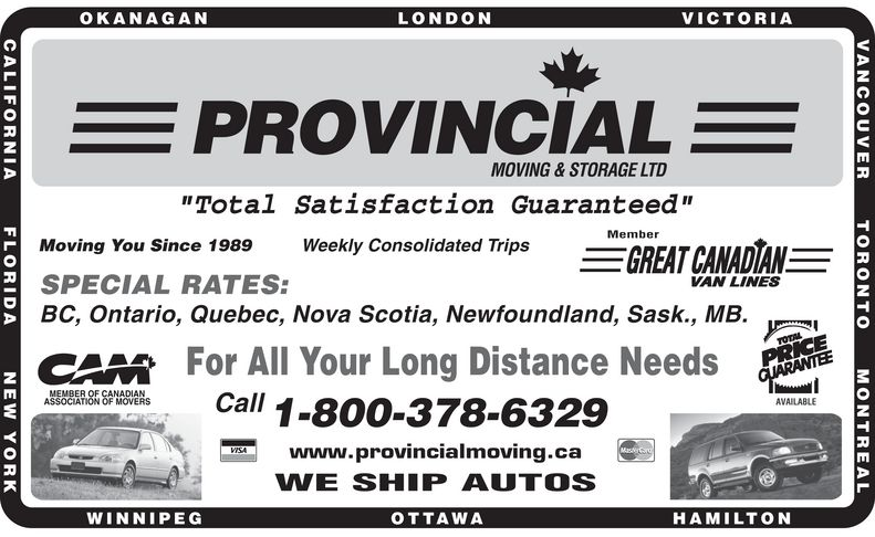 Ads Provincial Moving & Storage Ltd