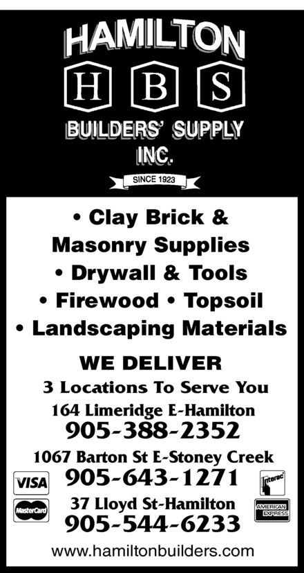 Ads Hamilton Builders Supply