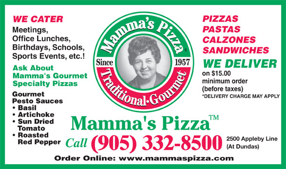 Ads Mamma's Pizza