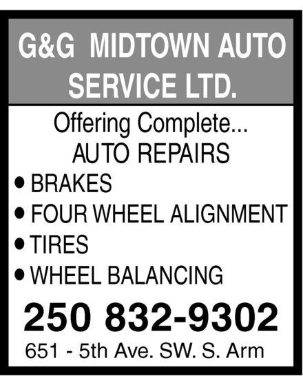 Ads G & G Midtown Auto Service Ltd
