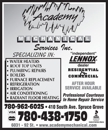 Ads Academy Mechanical Services Inc