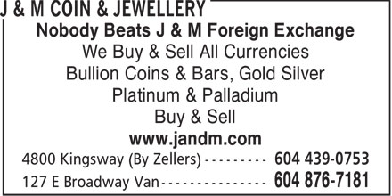 Ads J&M Jewellers