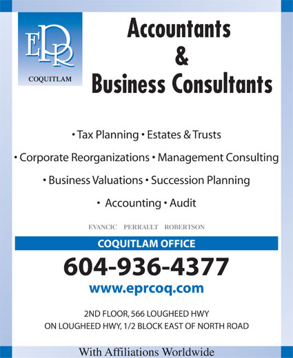 Ads EPR Coquitlam Professional Accountants