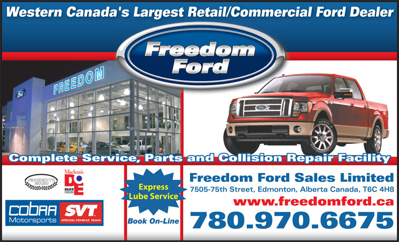 Ads Freedom Ford Sales Limited