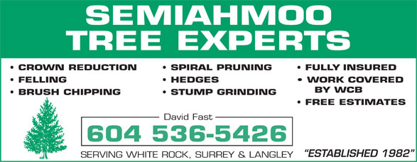 Ads Semiahmoo Tree Experts
