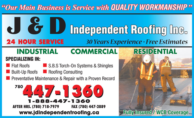 Ads J D Independent Roofing Inc