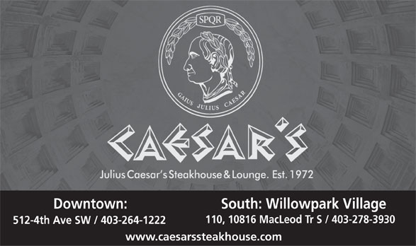 Ads Caesar&#039;s Steak House
