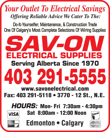 Ads Sav-On Electrical Supplies