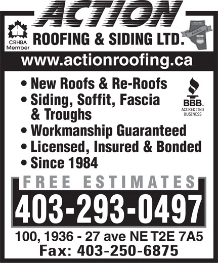 Ads Action Roofing &amp; Siding Ltd